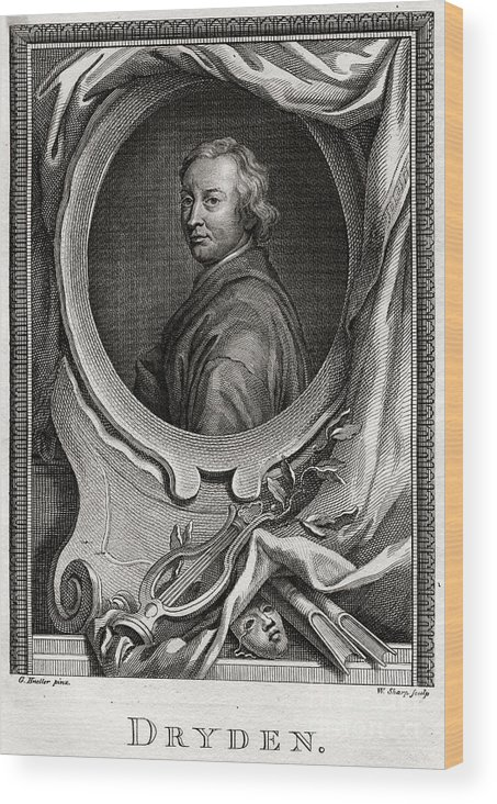 Engraving Wood Print featuring the drawing Dryden, 1775. Artist W Sharp by Print Collector