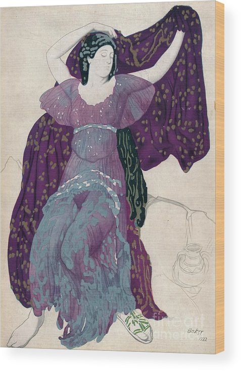 Gouache Wood Print featuring the drawing Echo Abandonée, 1922, 1923 by Print Collector