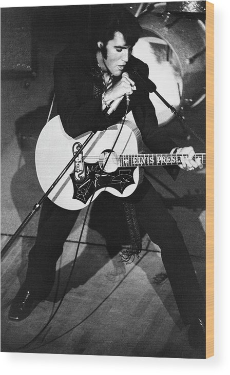 Elvis Presley Wood Print featuring the photograph Elvis In Vegas by Archive Photos