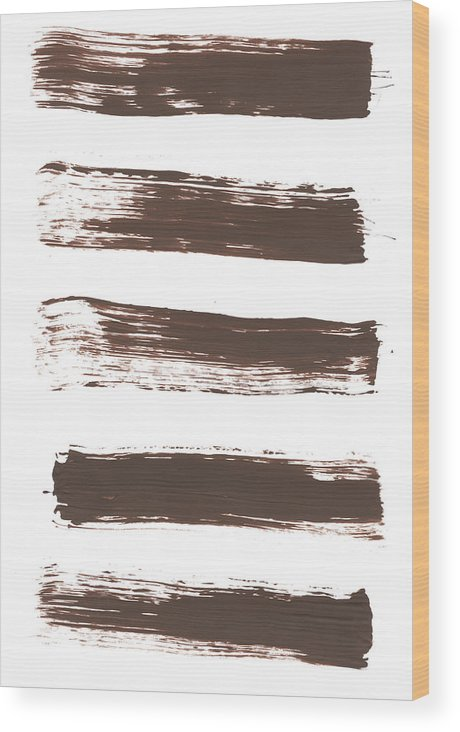 Textured Wood Print featuring the photograph Five Tan Streaks Of Paint by Kevinruss