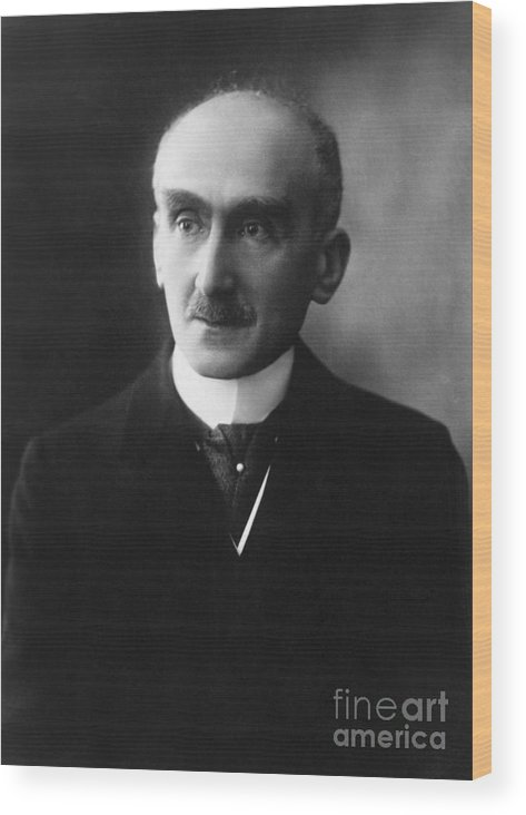 Mature Adult Wood Print featuring the photograph French Philosopher Henri-louis Bergson by Bettmann
