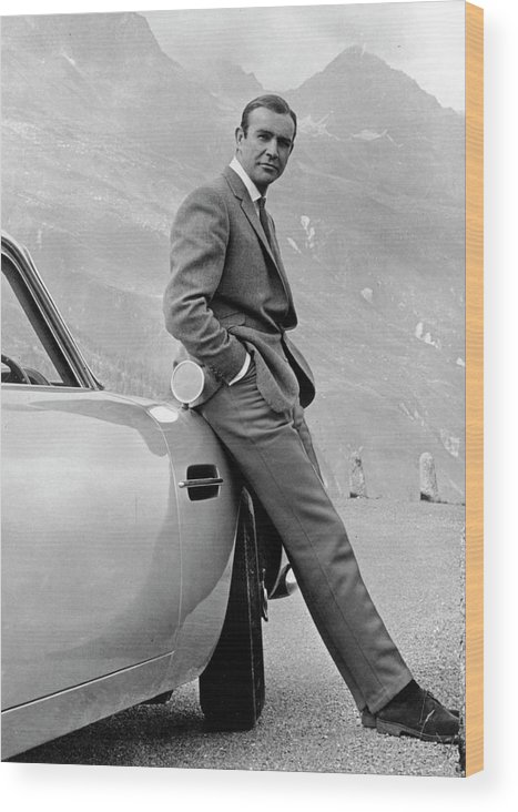 Sean Connery Wood Print featuring the photograph Goldfinger by Michael Ochs Archives