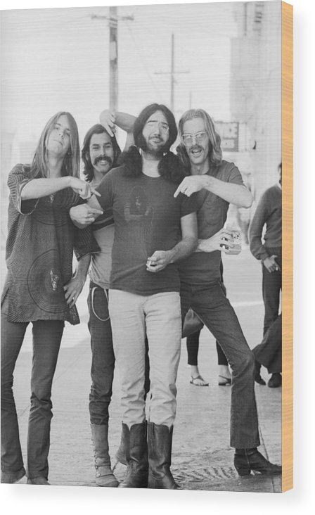 Event Wood Print featuring the photograph Grateful Dead Portrait Session In Sf by Michael Ochs Archives
