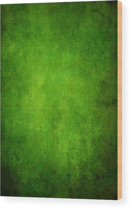 Stained Wood Print featuring the photograph Green Grunge Background by Mammuth