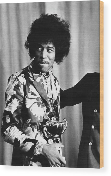 Rock Music Wood Print featuring the photograph Hendrix Award by Express