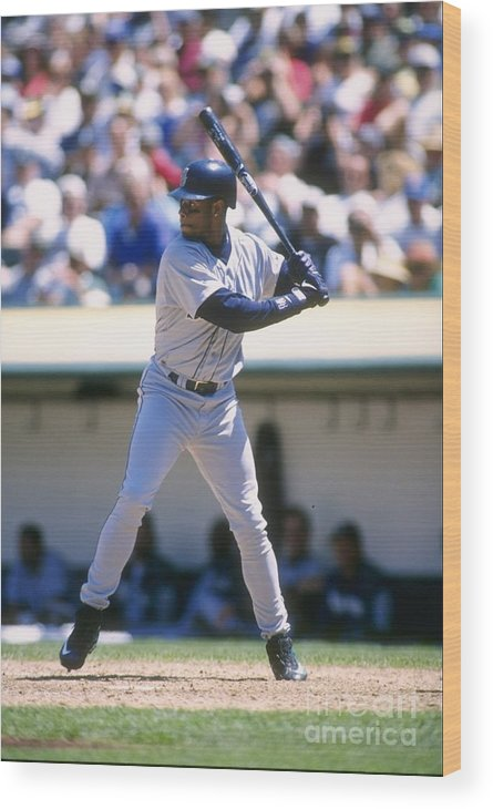 People Wood Print featuring the photograph Ken Griffey Jr. Mariners by Otto Greule Jr