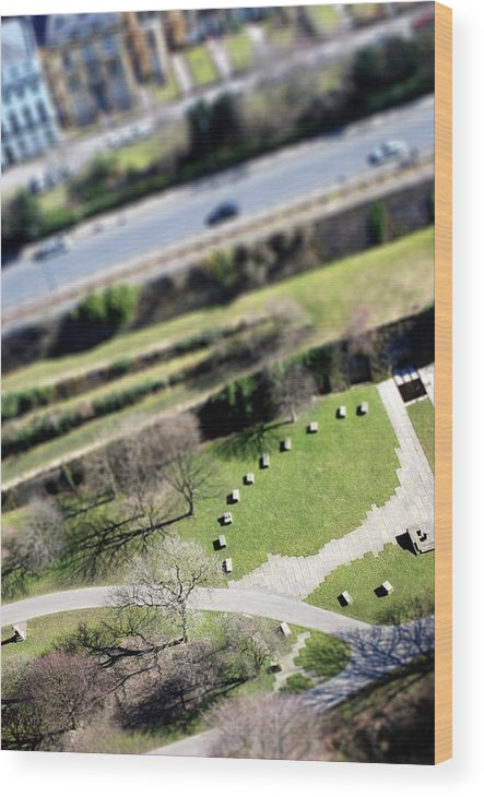 England Wood Print featuring the photograph Liverpool From Above, Tilt-shift Lens by Ilbusca