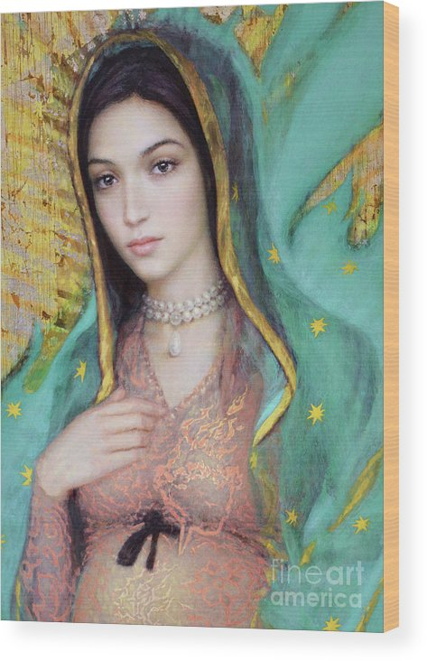 Mother Wood Print featuring the painting Our Lady of Guadalupe, 1/2 by Smith Catholic Art