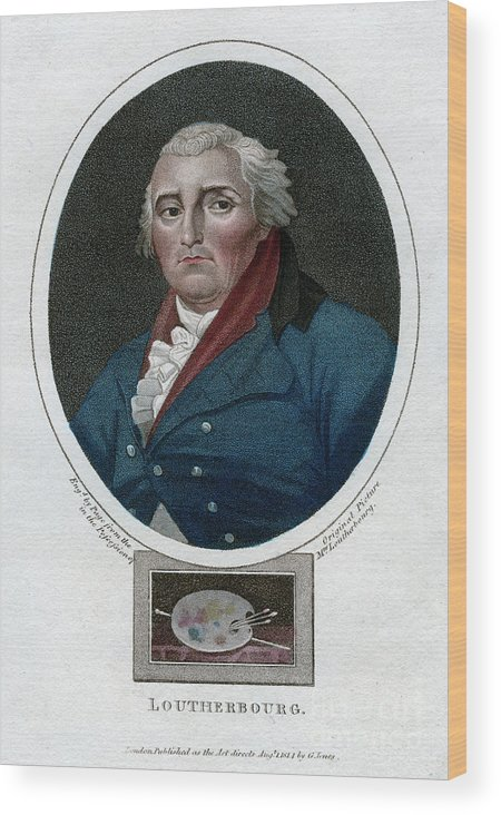 Engraving Wood Print featuring the drawing Philip James De Loutherbourg, French by Print Collector
