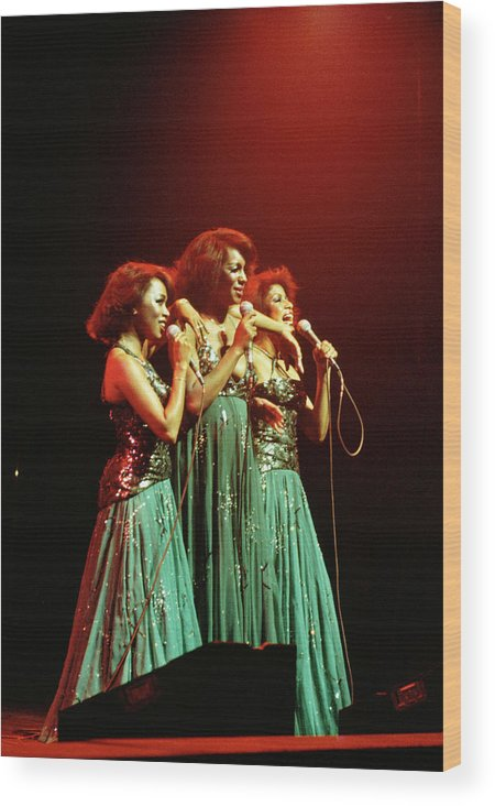 Mary Wilson Wood Print featuring the photograph Photo Of Supremes And Susaye Greene And by Keith Bernstein