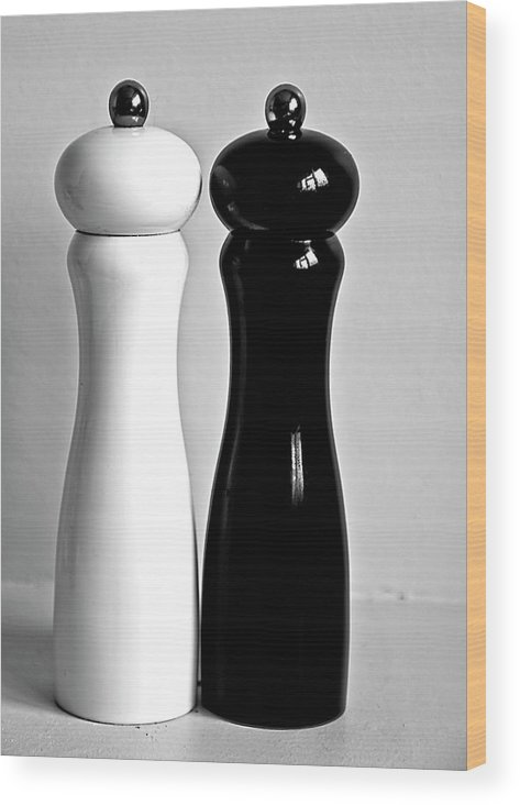 Black Color Wood Print featuring the photograph Salt & Pepper by Daniela White Images