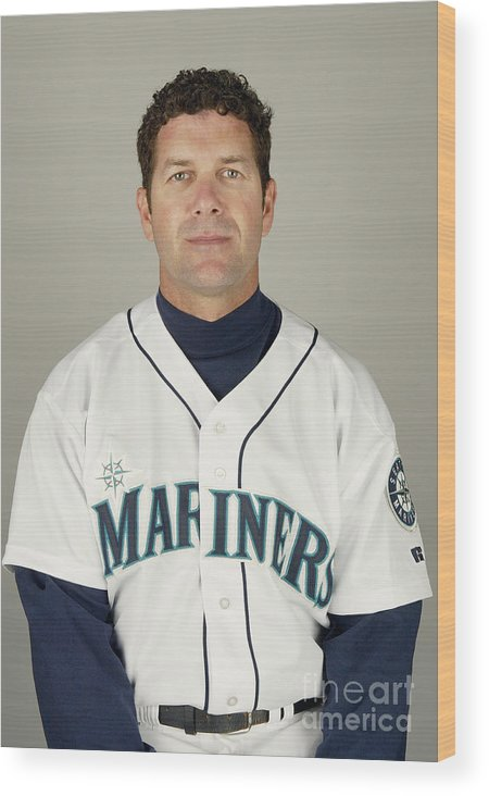 Media Day Wood Print featuring the photograph Seattle Mariners Photo Day by Harry How