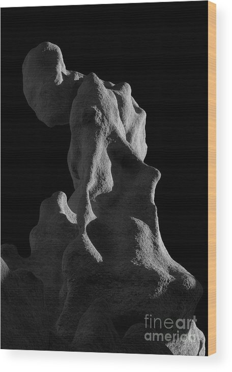 Fantasy Canyon Wood Print featuring the photograph Siltstone Gollum by Mike Dawson