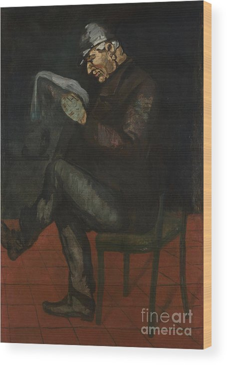 Oil Painting Wood Print featuring the drawing The Painters Father, Louis-auguste by Heritage Images