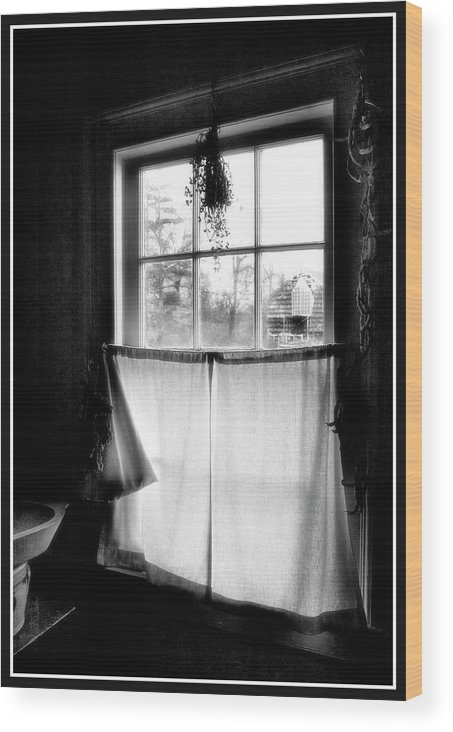A Kitchen Window Wood Print featuring the photograph Window Lighting #2 by Harold Silverman - Buildings & Cityscapes
