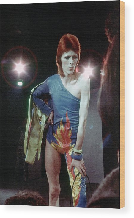 Ziggy Stardust - Persona Wood Print featuring the photograph Ziggy Stardust Era Bowie by Michael Ochs Archives