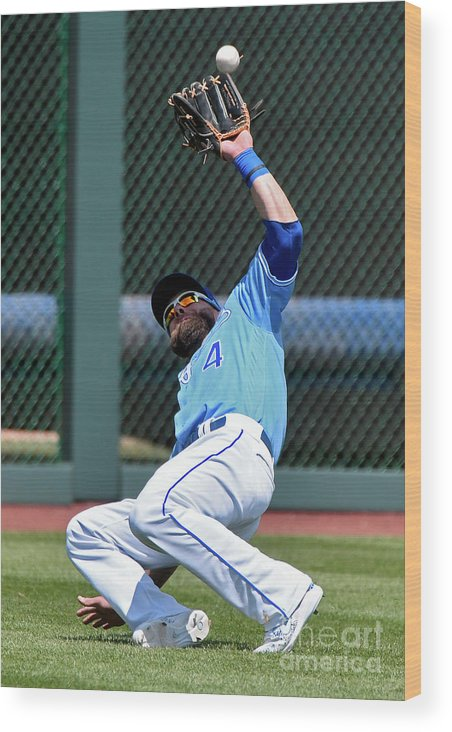 Second Inning Wood Print featuring the photograph Alex Gordon by Ed Zurga