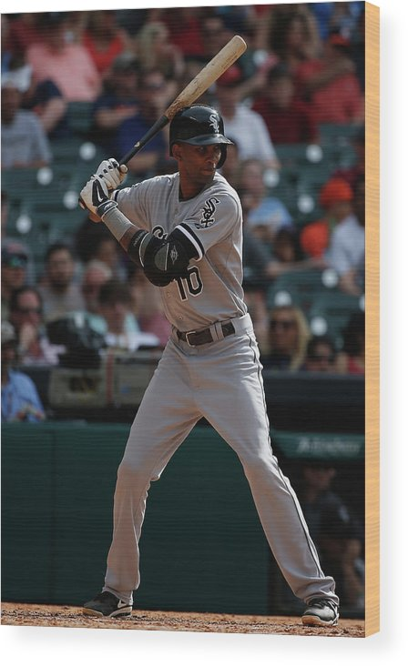 American League Baseball Wood Print featuring the photograph Alexei Ramirez by Scott Halleran