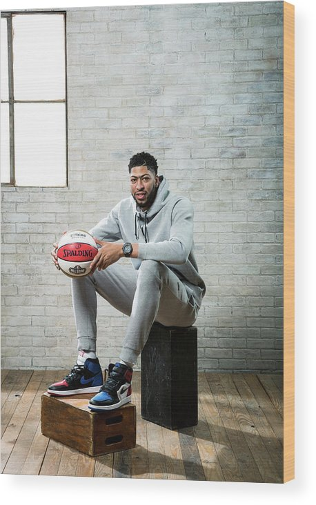 Nba Pro Basketball Wood Print featuring the photograph Anthony Davis by Nathaniel S. Butler