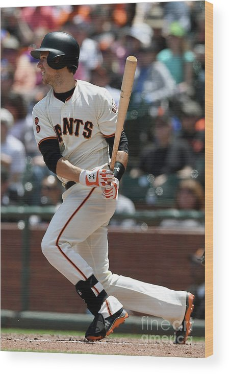 San Francisco Wood Print featuring the photograph Buster Posey by Thearon W. Henderson