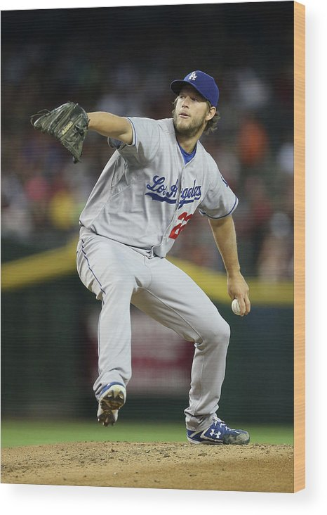 People Wood Print featuring the photograph Clayton Kershaw by Christian Petersen