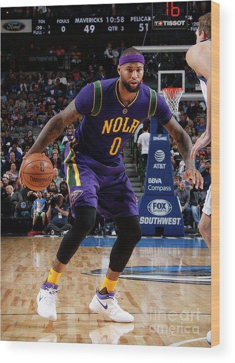 Nba Pro Basketball Wood Print featuring the photograph Demarcus Cousins by Glenn James