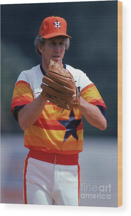 1980-1989 Wood Print featuring the photograph Don Sutton by Rich Pilling