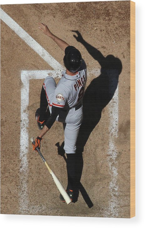 National League Baseball Wood Print featuring the photograph Hunter Pence by Christian Petersen
