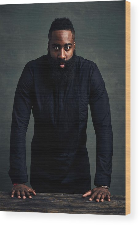 Event Wood Print featuring the photograph James Harden by Jennifer Pottheiser