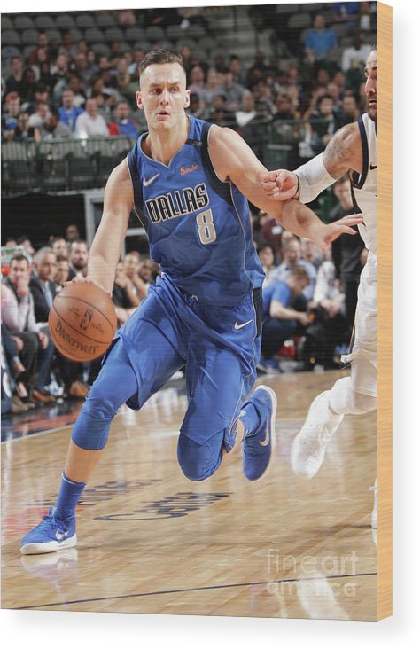 Sports Ball Wood Print featuring the photograph Kyle Collinsworth by Glenn James