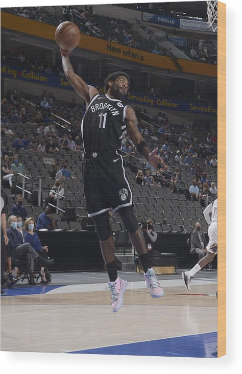 Nba Pro Basketball Wood Print featuring the photograph Kyrie Irving by Glenn James