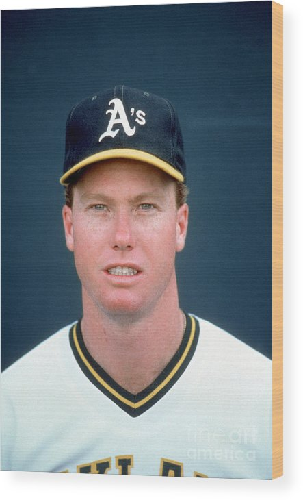 1980-1989 Wood Print featuring the photograph Mark Mcgwire by Michael Zagaris