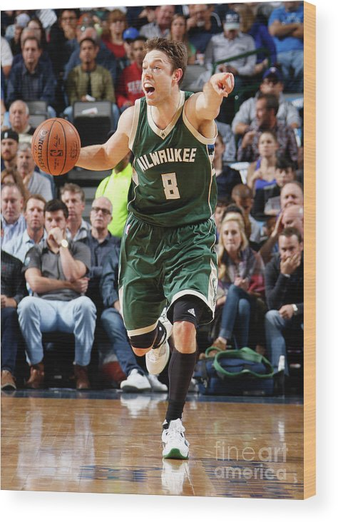 Nba Pro Basketball Wood Print featuring the photograph Matthew Dellavedova by Danny Bollinger