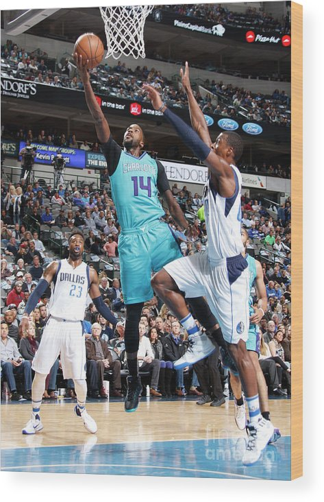 Nba Pro Basketball Wood Print featuring the photograph Michael Kidd-gilchrist by Danny Bollinger