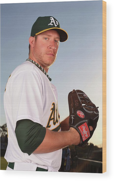 Media Day Wood Print featuring the photograph Sean Doolittle by Christian Petersen