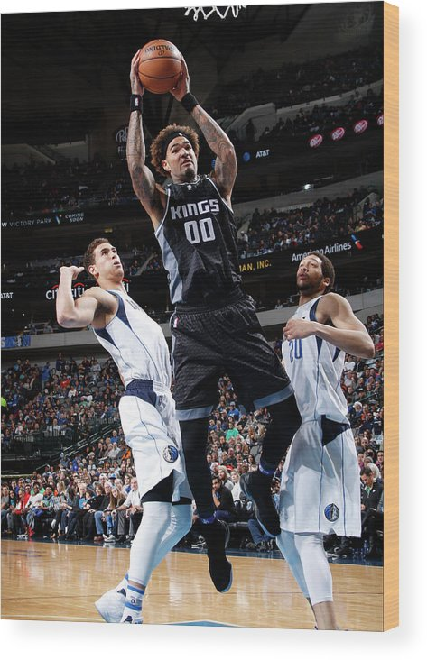 Nba Pro Basketball Wood Print featuring the photograph Willie Cauley-stein by Glenn James