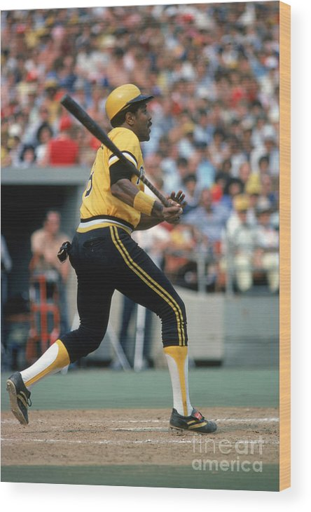 Motion Wood Print featuring the photograph Willie Stargell by Rich Pilling