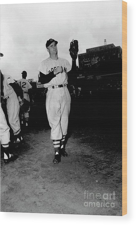 People Wood Print featuring the photograph Bobby Doerr by Kidwiler Collection
