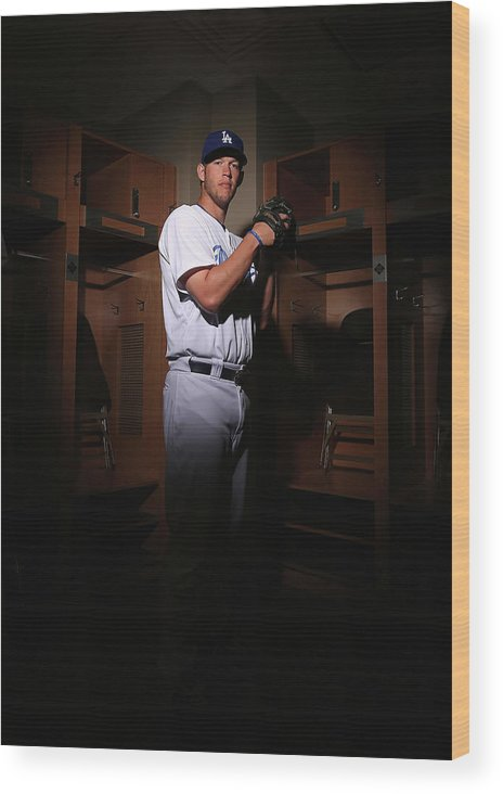 Media Day Wood Print featuring the photograph Clayton Kershaw by Christian Petersen