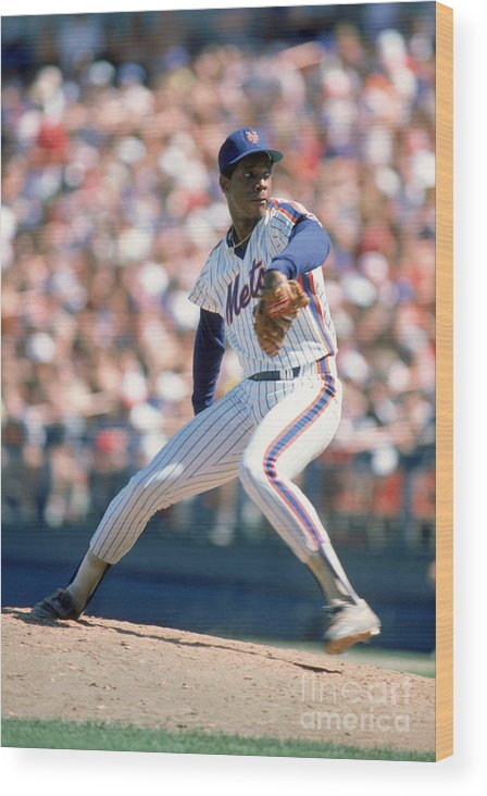 Dwight Gooden Wood Print featuring the photograph Dwight Gooden by Rich Pilling