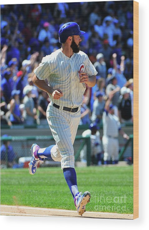 People Wood Print featuring the photograph Jake Arrieta by David Banks