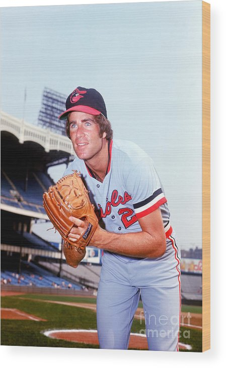 People Wood Print featuring the photograph Jim Palmer by Lou Requena