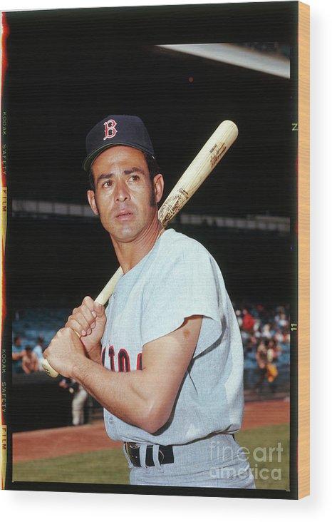 American League Baseball Wood Print featuring the photograph Luis Aparicio by Louis Requena