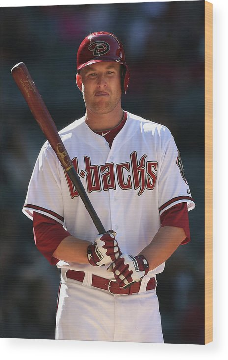 National League Baseball Wood Print featuring the photograph Mark Trumbo by Christian Petersen