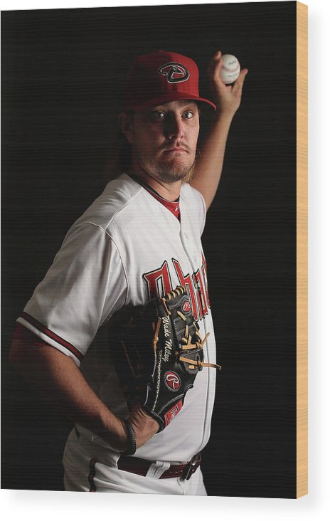 Media Day Wood Print featuring the photograph Wade Miley by Christian Petersen