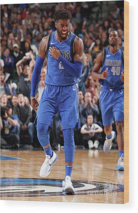 Nba Pro Basketball Wood Print featuring the photograph Wesley Matthews by Glenn James