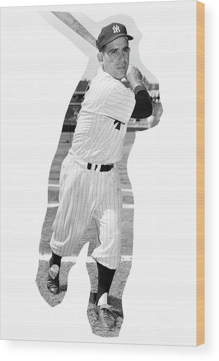 People Wood Print featuring the photograph Yogi Berra by Kidwiler Collection