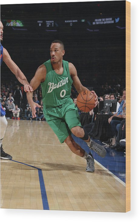 Nba Pro Basketball Wood Print featuring the photograph Avery Bradley by Nathaniel S. Butler