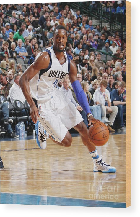 Nba Pro Basketball Wood Print featuring the photograph Harrison Barnes by Danny Bollinger