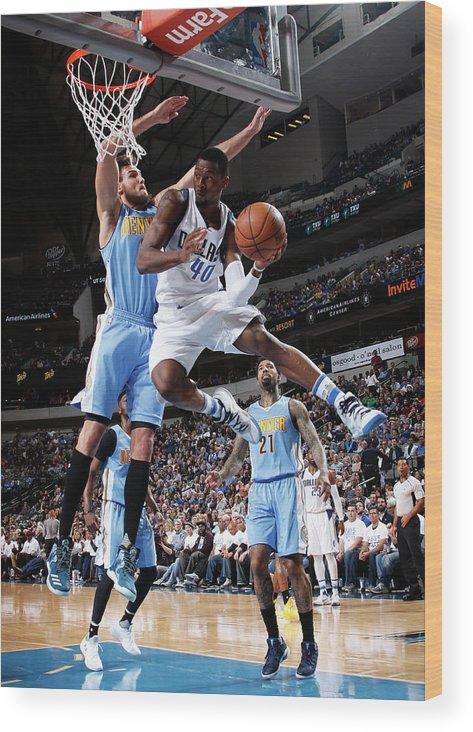 Nba Pro Basketball Wood Print featuring the photograph Harrison Barnes by Glenn James